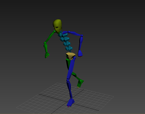 3D model Football Free Kick motions