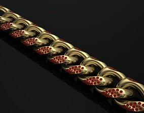 cuban chain necklace or bracelet new versace 3D print 2