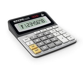 8 Digit Electronic Calculator 3D model