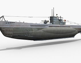 German U-BOAT Type VII 3D model