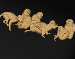 3D printable model Monkey family 183