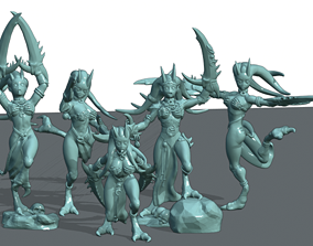 3D printable model Pleasure Demons set 2