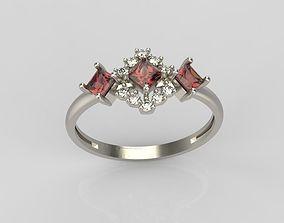 Design ring with gems 11 3D print model