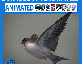 Animated Swallow wing 3D