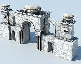 Arab city entrance 3D asset