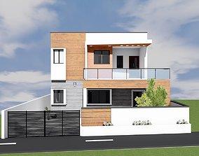 house elevation 3D print model