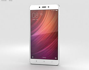 Xiaomi Redmi Note 4 Silver 3D model xiaomi