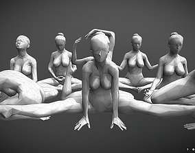 Low-Poly Dancer collecting 001 3D print model