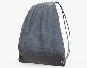 Drawstring Bag 3D asset