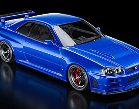 Nissan Skyline GT-R R34 V-Spec 2 Nur 3D model