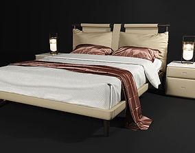 fabrics Poltrona Frau Times bed 3D model