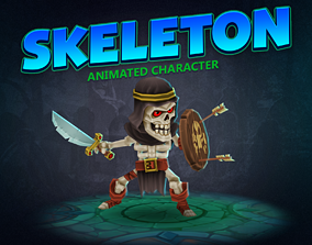 3D asset Skeleton animated character