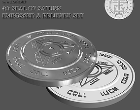 3D printable model 4th Seal of Saturn
