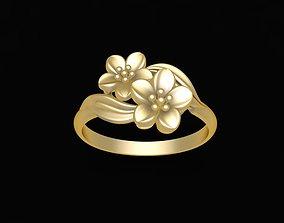 3D printable model 1630 Pure Gold Flower Ring