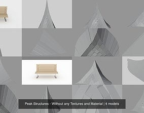 3D model Peak Structures - Without any Textures and