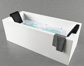 3D Free Bathtub Cum Jacuzzi