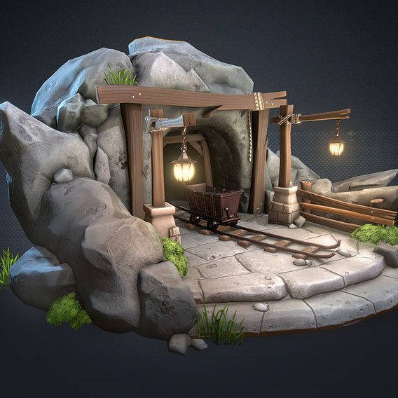 Old mine lowpoly