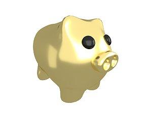 3D asset Piggy Bank V1 010