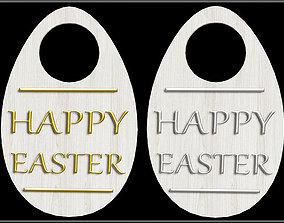 3D asset Easter Egg Shape Door Hanger