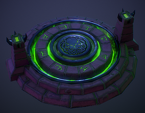 Altar Asset with 2 skins low-poly