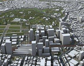 3D model Tokyo City Japan japan