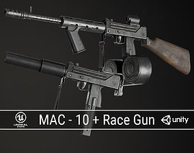PBR MAC-10 Pack 3D