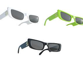 3D asset Gucci Rectangular Sunglasses 3