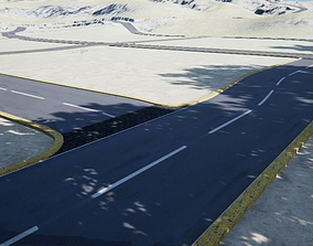 Spline Road Set 3D model