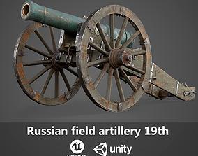 3D model PBR Russian field artillery 19th
