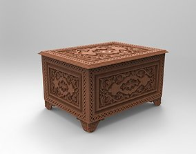 Vintage Hand Carved Chest 3d stl model for cnc