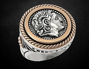 3D print model The Greek Ring with Alexander the Great
