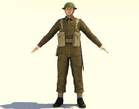 3D WWII British soldier