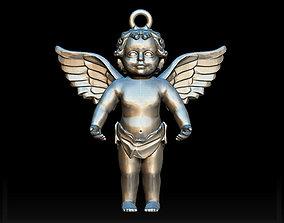 statue 3D print model Angel charm
