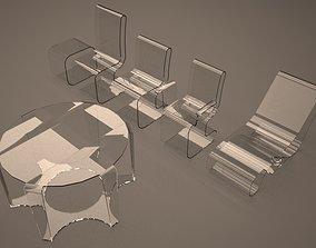 Acrilic chairs 3D
