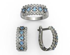 wedding female engagement diamond 3D print model 1