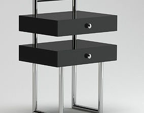 3D Black Small Modern Cabinet