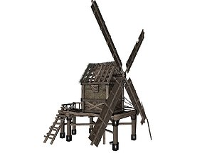 3D model architecture Old Windmill