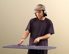3D model Ajay 11563 - Young Man DJ Scratching Wearing