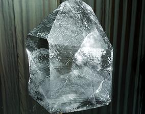 Small fractured quartz crystal 3D asset