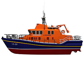 britain 3D model Severn Class Lifeboat