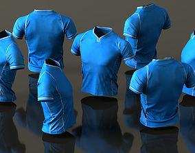3D asset Mens Clothing Blue Sport TShirt