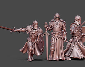3D print model Knights bundle - 3 miniatures 35mm scale