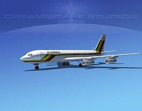 3D Boeing 707 Air Zimbabwe
