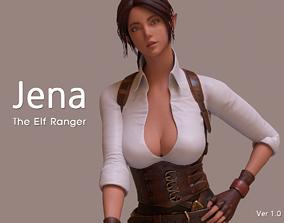 Jena The Elf Ranger PBR Game Ready VR AR Female 3D model