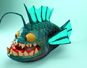 3D model Spike the Angler Fish Animated