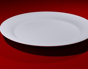 3D asset VR / AR ready Plate