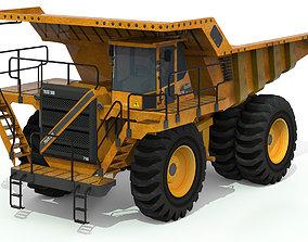 Dump Truck 3D asset low-poly dump