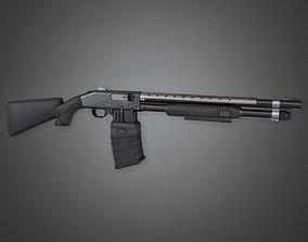 FPS Modern Handgun - MSG - Shockstorm - PBR Game 3D model