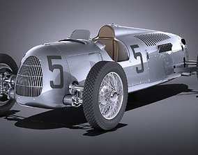 Auto Union Type C 1936 Race Car 3D model
