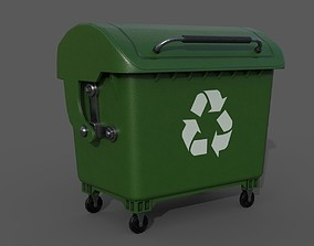 Detailed Garbage Container - InGame 3D model low-poly